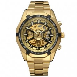 Часы Winner Skeleton Luxury Gold
